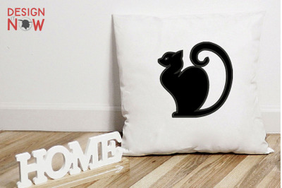 Cat  Applique Design, Cat Embroidery Design, Kitty Applique Design