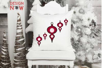 Bulb Applique Design, Christmas Embroidery Design, Holiday Applique
