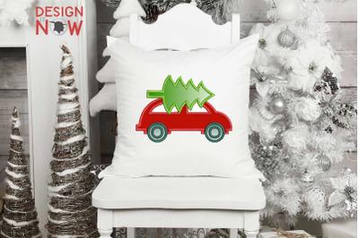 Christmas Tree Applique Design, Christmas Embroidery Design, Holiday