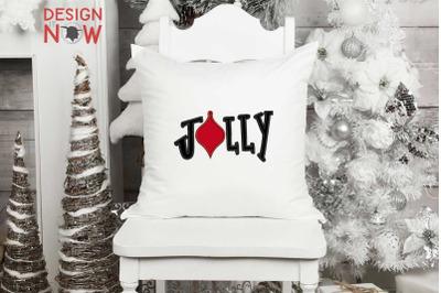 Bulb Applique Design, Christmas Embroidery Design, Jolly Applique