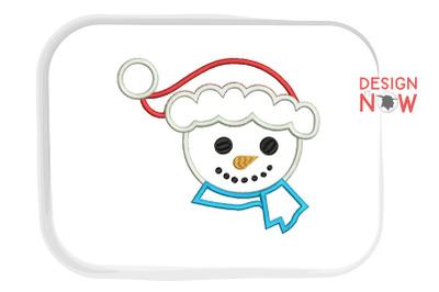 Santa Claus Applique Design, Christmas Embroidery Design, Holiday
