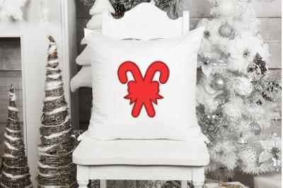 Candy Cane Applique Design, Christmas Embroidery Design, Holiday