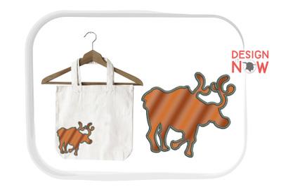 Reindeer Applique Design, Christmas Embroidery Design, Holiday Appliqu