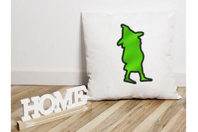 Gnome Applique Design, Christmas Embroidery Design, Holiday Applique