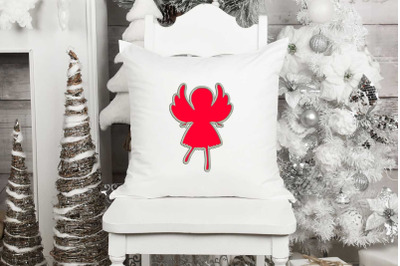 Angel Applique Design, Christmas Embroidery Design, Holiday Applique