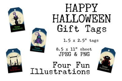 Happy Halloween Printable Gift Tag Set