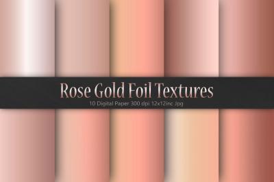 Rose Gold Foil Christmas Textures