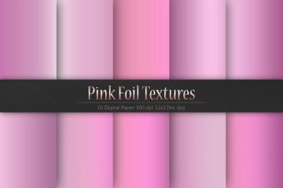 Valentine's Day Pink Foil Textures