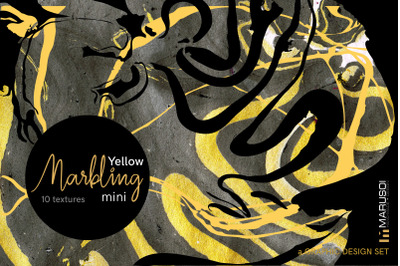 MARBLING yellow. Mini