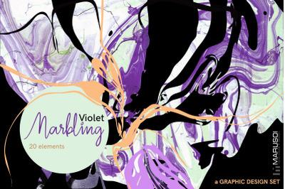 MARBLING Violet