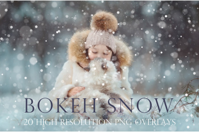 Bokeh snow overlays