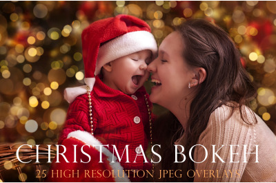 Christmas bokeh overlays