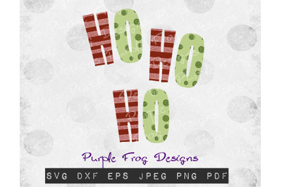 Ho Ho Ho Christmas design download file