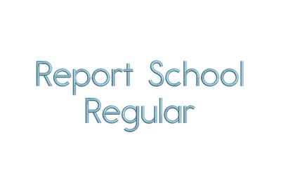 Report School Regular 15 sizes embroidery font (RLA)