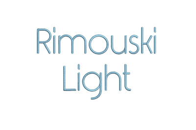 Rimouski Light 15 sizes emroidery font (RLA)