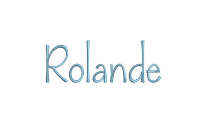Rolande 15 sizes embroidery font