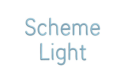 Scheme Light 15 sizes embroidery font