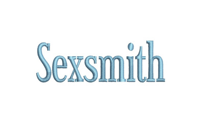 Sexsmith 15 sizes embroidery font (RLA)