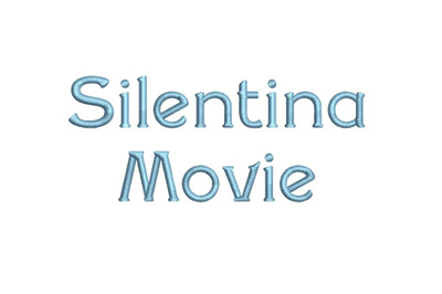 Silentina Movie 15 sizes embroidery font (RLA)
