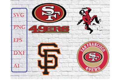 San Francisco 49ers Svg, 49ers Svg, NFL svg, Football Svg Files,