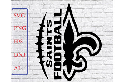 Saints Football Svg File - Football Svg - Saints Svg - Football
