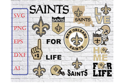 New Orleans Saints Svg Png Jpeg Dxf Eps Vector Files, silhouette cameo