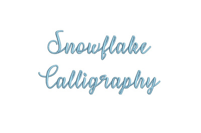 Snowflake Calligraphy 15 sizes embroidery font (MHA)