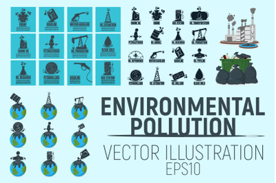 Set of Pollution and Oil Business.
