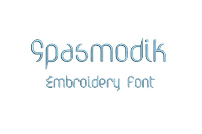 Spasmodik 15 sizes embroidery font