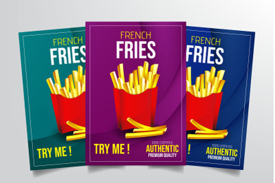French Fries Flyer Template