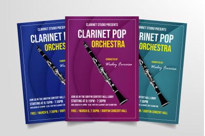 Clarinet Pop Orchestra Flyer Template