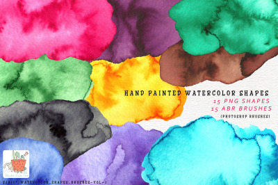 Watercolor Shapes Brushes Vol 3