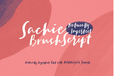 Sachie - Brush Script Font
