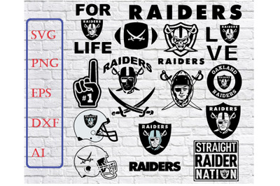Oakland Raiders Svg Png Jpeg Dxf Eps Vector Files , silhouette cameo,