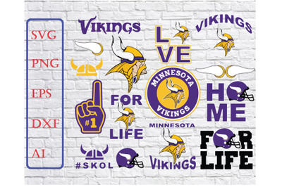 Minnesota Vikings Svg Png Jpeg Dxf Eps Vector Files, silhouette cameo