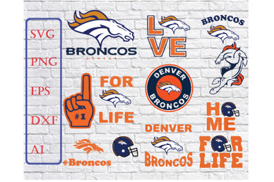 Denver Broncos Svg Png Jpeg Dxf Eps Vector Files , silhouette cameo,