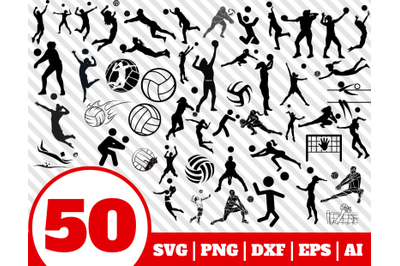 50 VOLLEYBALL SVG BUNDLE - volleyball clipart - volleyball vector