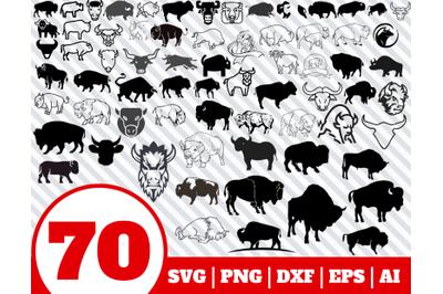 70 BISON SVG BUNDLE - Bison clipart - Bison vector - Bison cricut