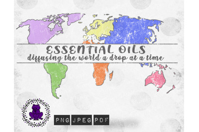 Essential Oils Diffusing the World png