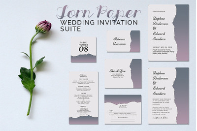 Torn Paper Wedding Suite