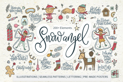 Snow Angel. Big Christmas Pack. Sale!