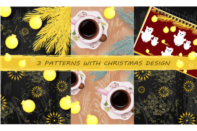 3 Patterns with Christmas Design