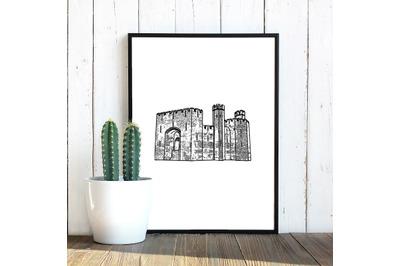 Caernarfon Castle SVG, Welsh Castle Decal, Cut Files, Decals, Vinyl, S