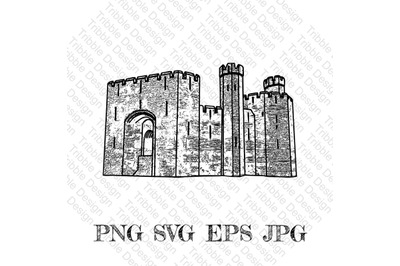 Caernarfon Castle SVG, Welsh Castle Decal, Cut Files, Decals, Vinyl, S