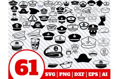 61 Captain Hat SVG BUNDLE - Captain Hat clipart - Captain Hat vector