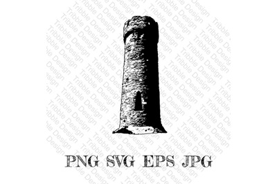 Castle tower SVG, tower Decal, castle tower, Cut Files, Decals, Vinyl,