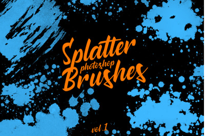 Splatter Stamp Photoshop Brushes Vol. 1