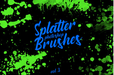 Splatter Stamp Photoshop Brushes Vol. 3
