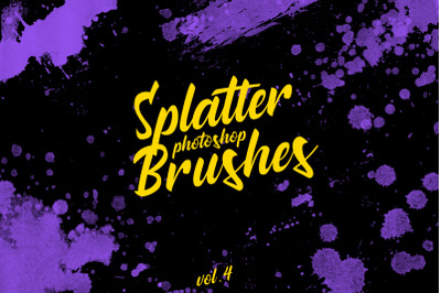 Splatter Stamp Photoshop Brushes Vol. 4