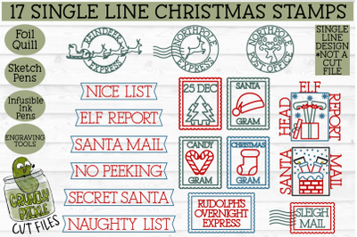 Foil Quill 17 Christmas Stamps